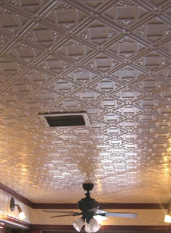 Thin ceiling tiles