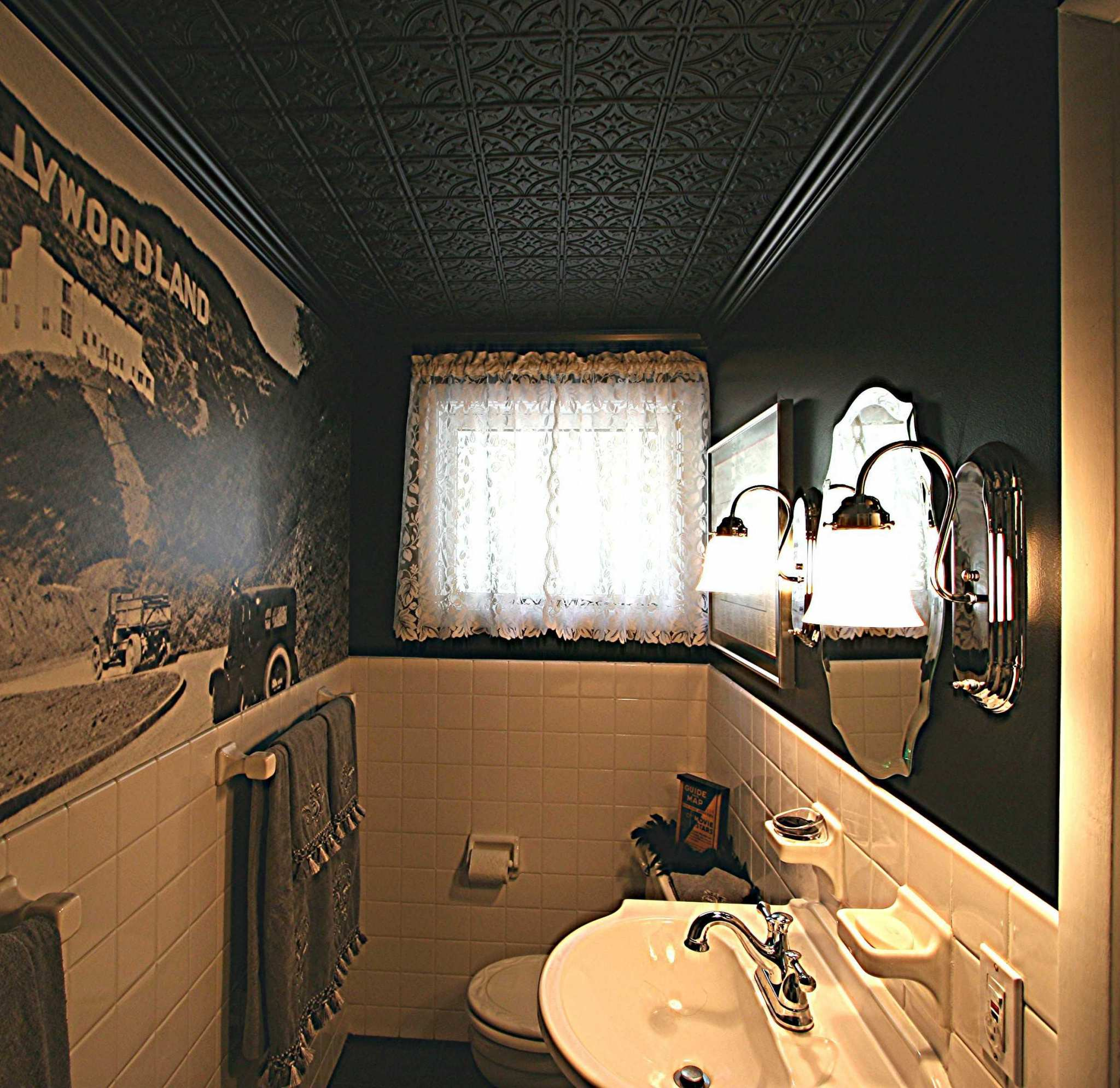 Tile Bathroom Ceiling Pictures allusions thermoformed faux tin ceiling tiles • surfacingsolution