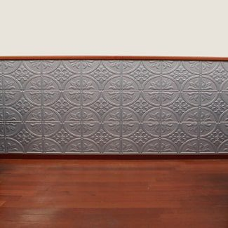 Easy DIY Faux Tin Wall Paneling
