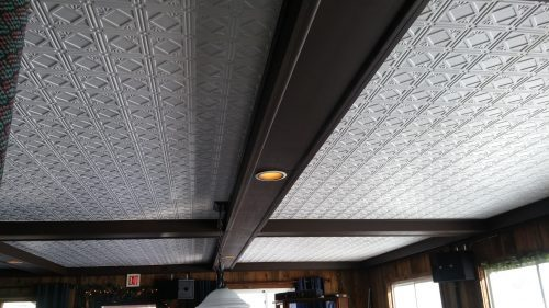207 White Faux Tin Ceiling Tile