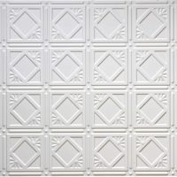 White 207 2'x4' faux tin ceiling tile