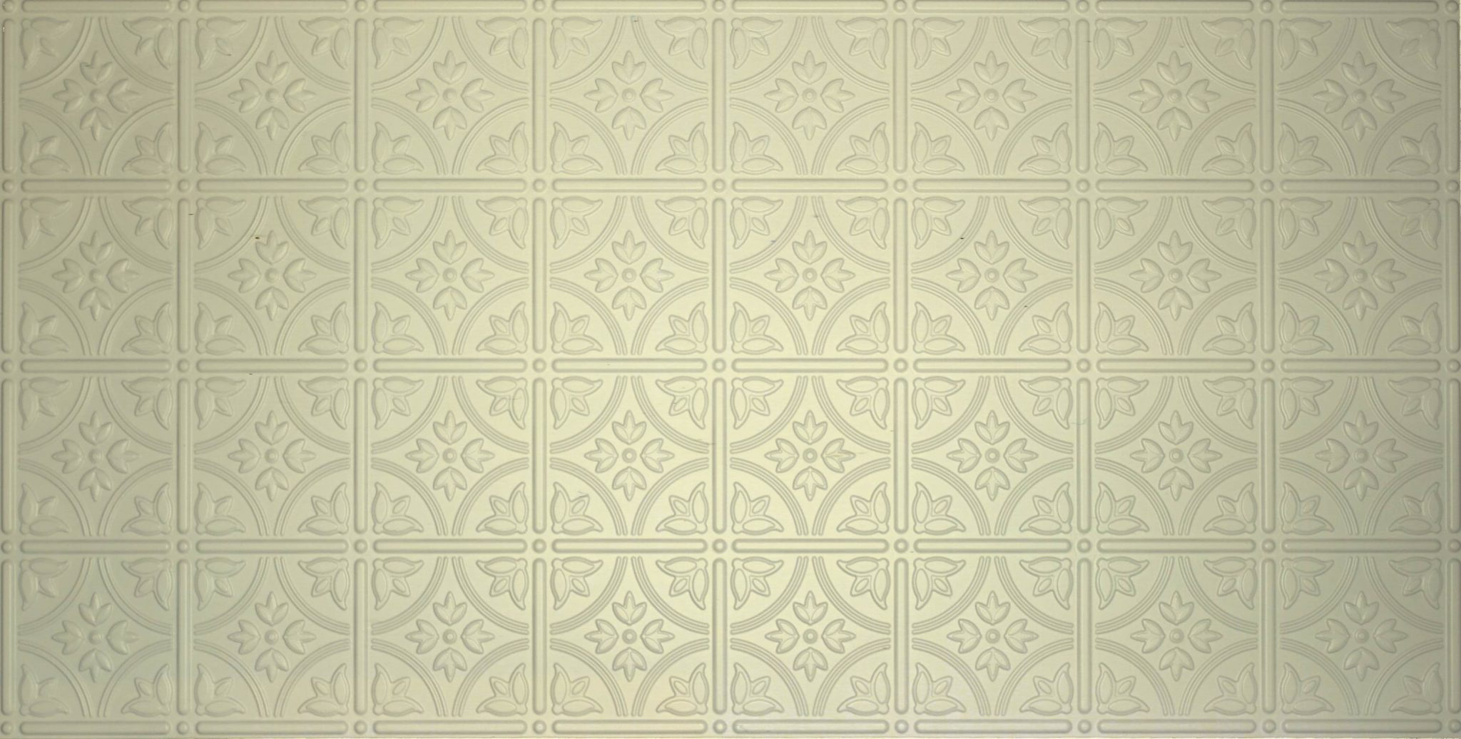 White faux tin ceiling tiles