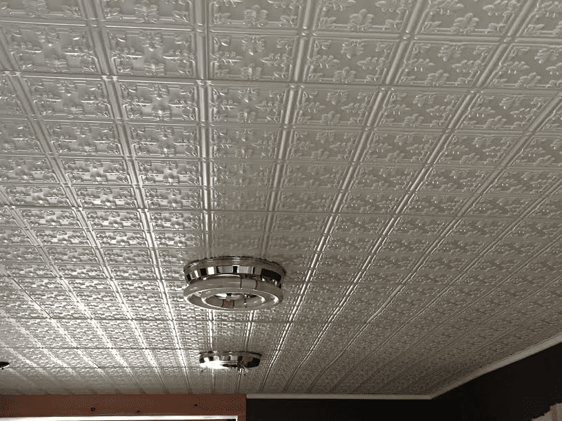 faux tin ceiling tile in kitchen - Tin Ceilings
