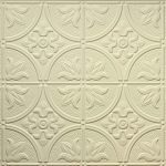 2x4 creme faux tin decorative ceiling tile