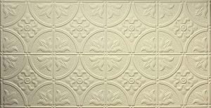 2x4 creme faux tin decorative ceiling tile