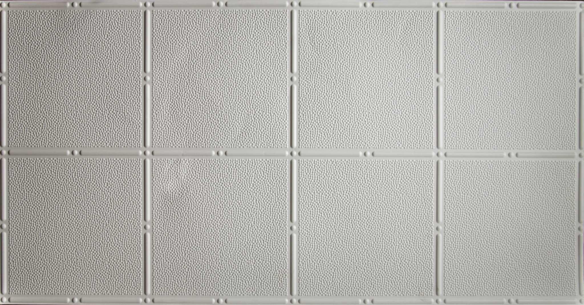Pattern #310 - White - 2\'x4\' Faux Tin Ceiling Tile Pattern ...