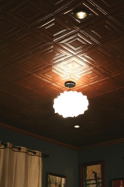 faux tin ceiling tiles all of the below images are from real customers they took the time to share with us their new and improved ceilings - Faux Tin Ceiling Tiles