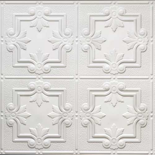 White 321 2 X4 Faux Tin Ceiling Tile
