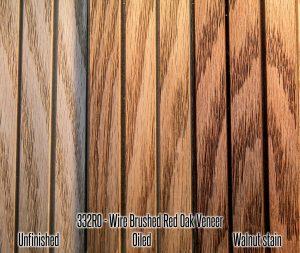 332 Red Oak Wire Brushed Wood Tambour Veneer flexible wall panel 4x8 feet