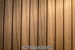 332 White Oak Wire Brushed Wood Tambour Veneer flexible wall panel 4x8 feet