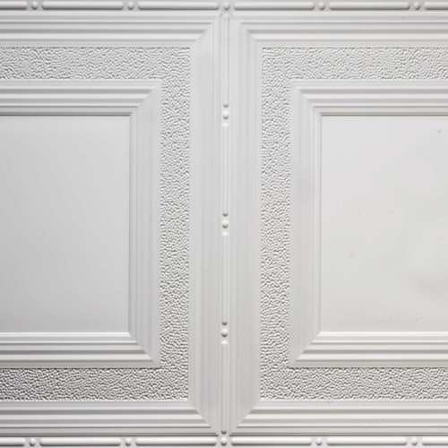white 509 faux tin ceiling tile