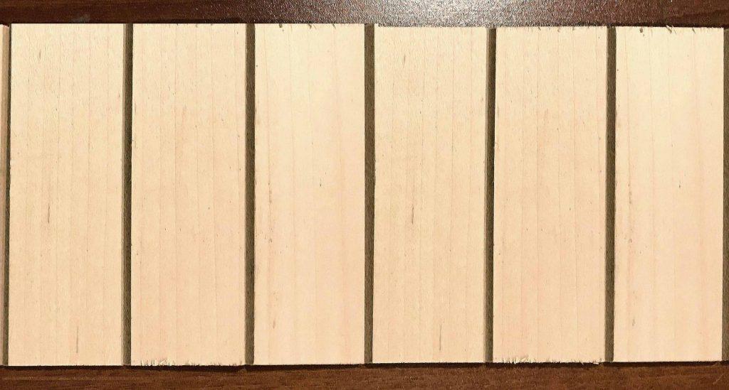 "631 1.5"" maple veneer wall paneling tambour"