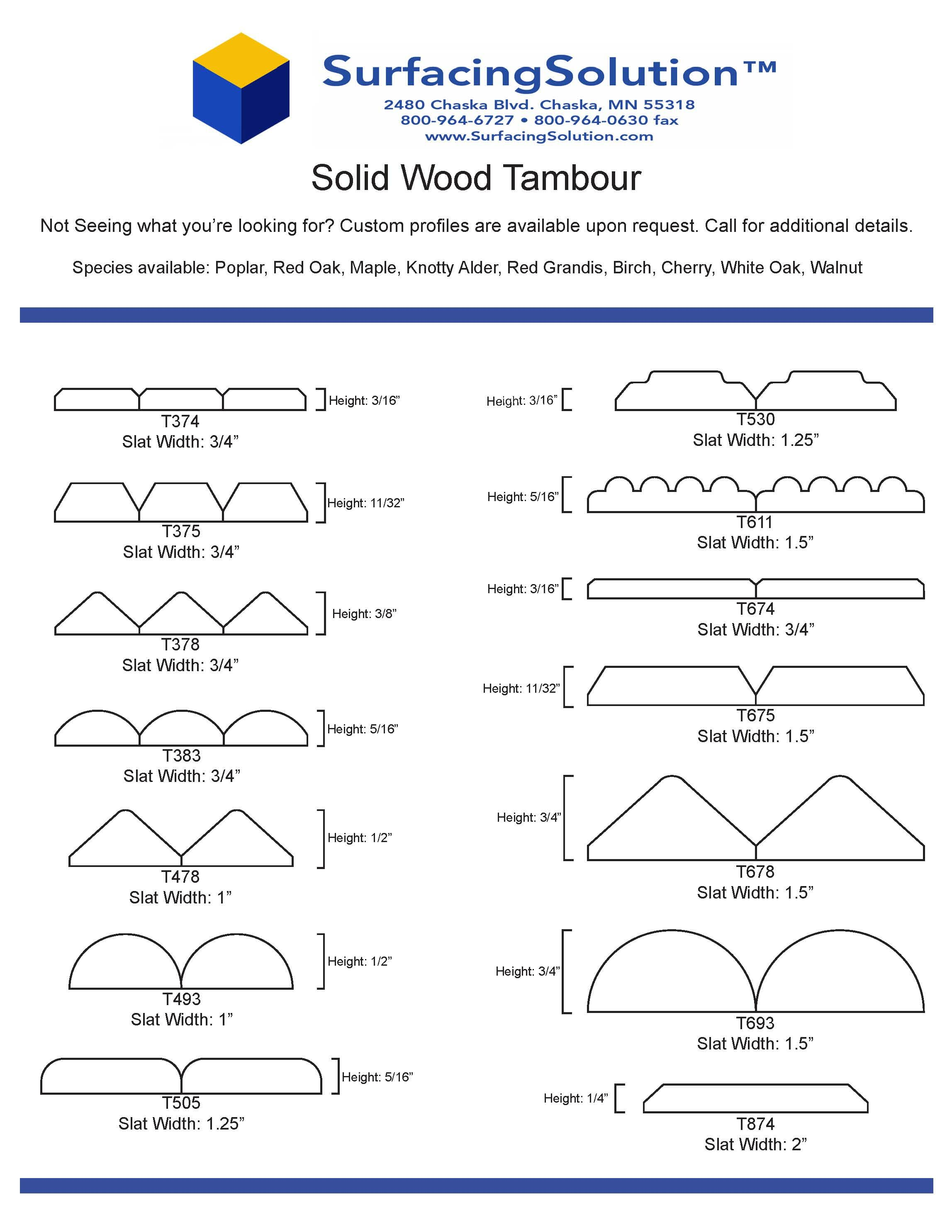 Solid Wood Tambour panels for Walls, Ceilings, wainscots, pole wraps and more!