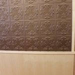 faux tin and veneer maple wainscot wall paneling