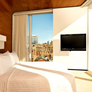 maple veneer tambour wall paneling standard hotel highlinee