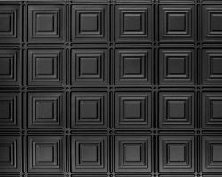 Faux tin DIY ceiling tile in black