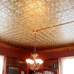 glue up faux tin ceiling tile