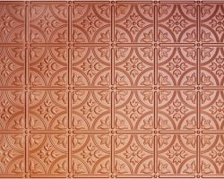 Faux tin diy ceiling tile in copper