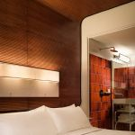 tambour wall paneling and ceiling