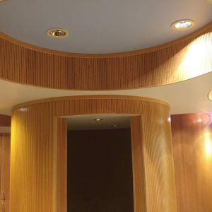 solid wood tambour wall panels