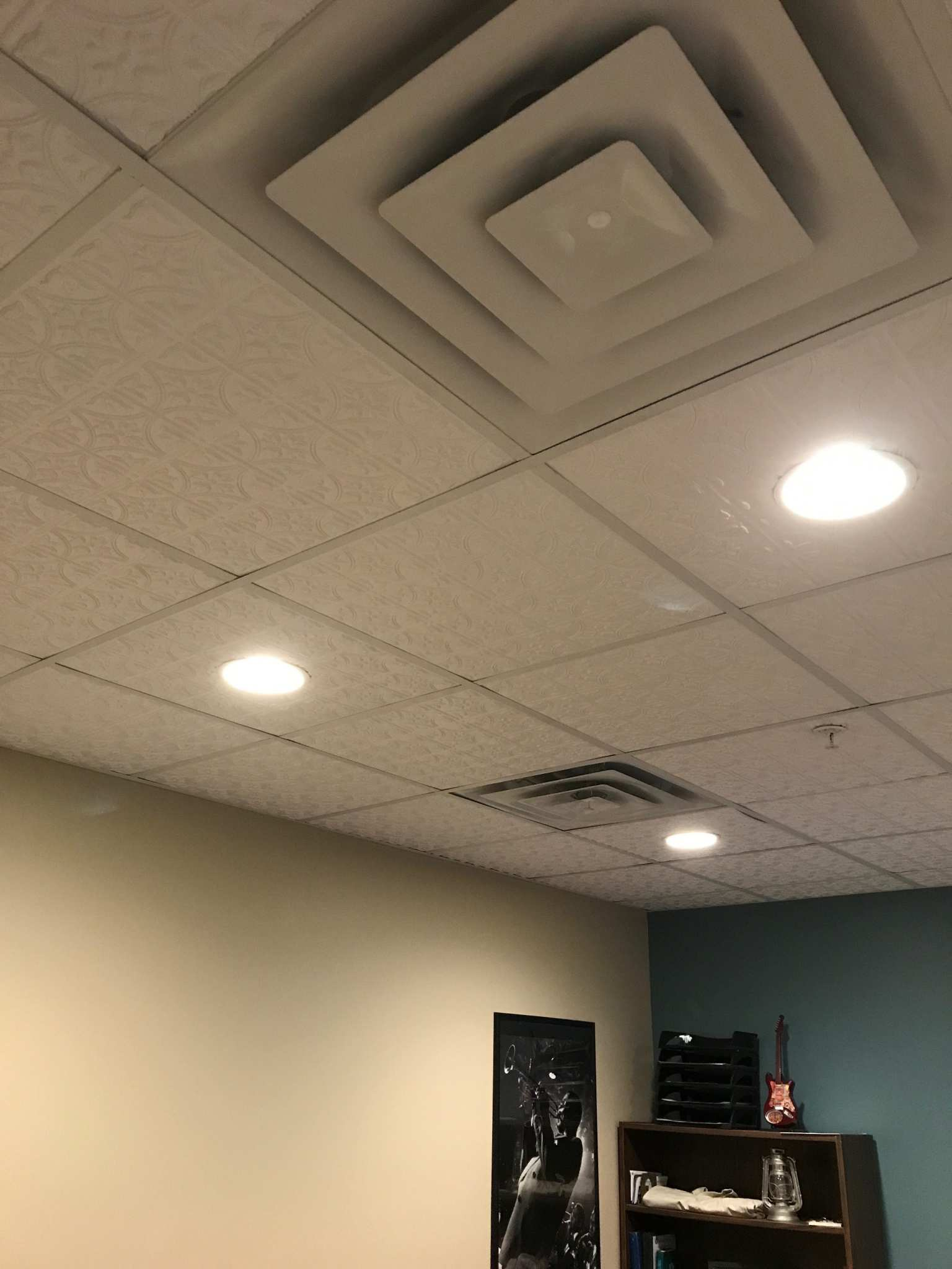 faux tin lay in ceiling tile - 2 X 2 Ceiling Tiles