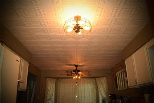 faux tin decorative ceiling tile