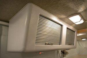 brushed aluminum airstream tambour cabinet